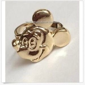 Vintage Disney Mickey Mouse Ring Gold Plated 5 6 7